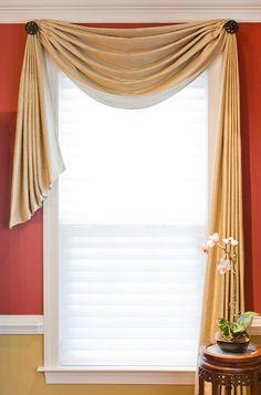 Scarf Valance On Pinterest Window Scarf Door Window