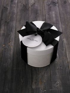 GIFT WRAPPING: The Special Delivery Company Hat Box with black grosgrain ribbon. Available from www.thespecialdeliverycompany.com.au
