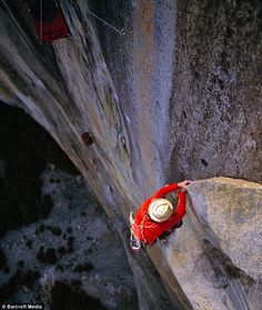 It is regarded as one of the world's toughest climbs, a 2000-foot rock formation with a vertical face.    But a mountain climber from Cumbria has become the first Briton to conquer the notorious El Capitan in California's Yosemite National Park.    Leo Houlding inched his way up the formation in an agonising climb - pulling himself up by his fingertips using a one-inch vertical crack in the rock face,