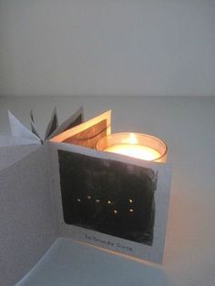 Constellation Book:  Use a flameless candle to help children see and learn the constellations... clever!  #stars  #space