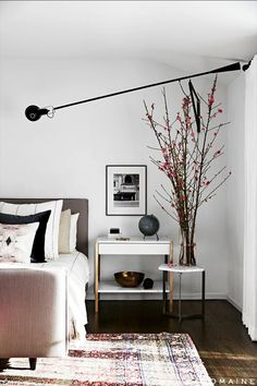 Modern Brass Bedside Table. Master bedroom. Bedroom design ideas. luxury interiors. Luxury Furniture. For more inspirational ideas take a look at: www.homedecorideas.eu