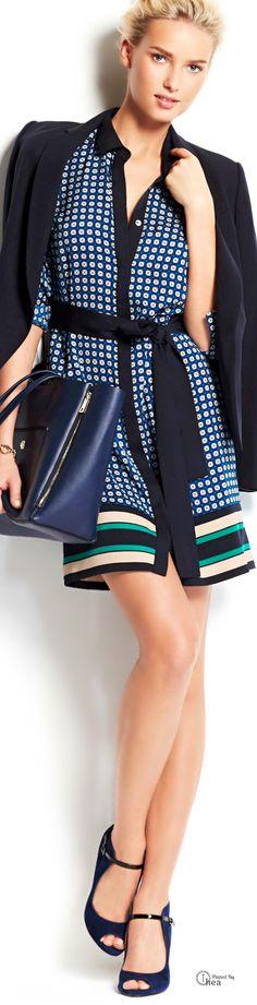 Ann Taylor  Mod Scarf Print Shirt-dress | LBV ♥✤ | KeepSmiling | BeStayElegant