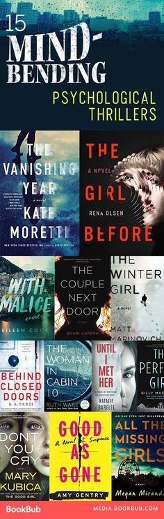 15 heart-stopping, must-read psychological thriller books. - - 15 heart-stopping, must-read psychological thriller books. I Love Books, Good Books, My Books, Must Read Books 2017, Books To Read For Women, Book Club Books, Book Suggestions, Book Recommendations, Reading Lists