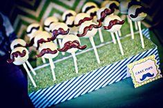 Mustache themed cake pop idea via Kara's Party Ideas karaspartyideas.com #mustache #cake #pop #ideas #party #birthday