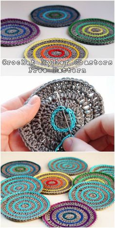 Crochet Roller Coasters – Free Pattern 25 Crochet Coasters Free Patterns To Party It Up With CozyCrochet Flower Coasters The Best IdeasFree crochet pattern for crochet flower motifs, to… Bag Crochet, Crochet Motifs, Crochet Circles, Crochet Poncho, Love Crochet, Crochet Granny, Crochet Gifts, Ravelry Crochet, Freeform Crochet