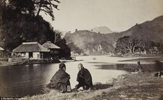 The village of Wilhelm Burger, near Yokohama, Japan, in 1869.  This photograph was taken by Wilhelm Burger. I LOVE this pic.