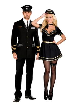 Couples Costumes, Airline Pilot couples Costumes teezerscostumes.com
