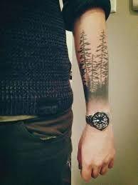 45 inspirierende Wald Tattoo-Ideen – Tattoo For Women Forest Tattoo Sleeve, Forest Forearm Tattoo, Forest Tattoos, Cool Forearm Tattoos, Body Art Tattoos, New Tattoos, Sleeve Tattoos, Arabic Tattoos, Tattoo Designs For Women