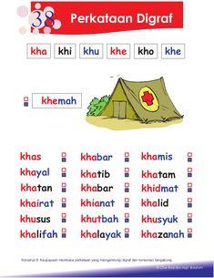 petua asas membaca Senses Preschool, Preschool Learning Activities, Preschool Printables, Preschool Worksheets, Kindergarten Test, Art Classroom Decor, Malay Language, Reading Worksheets, Kids Education