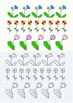 Cornicette con fiori Graph Paper Drawings, Graph Paper Art, Doodle Drawings, Mini Cross Stitch, Cross Stitch Borders, Cross Stitching, Graphic Quotes, Art Quotes, Drawing For Kids