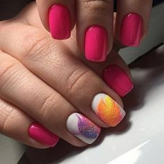 Attractive nails, Beautiful patterns on nails, Nails with acrylic powder, Party nails, Pink manicure ideas, ring finger nails, Sandy nails, Square nails