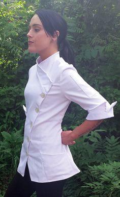 Women's asian style designer Chef Coat in stock