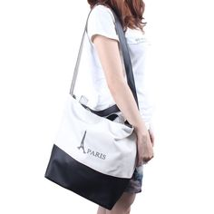 White and Black Printed Eiffel Tower Lady PU #Bag Only US$ 3.00 Order Now! http://www.oricssonbags.com/White-and-Black-Printed-Eiffel-Tower-Lady-PU-Bag-p10928.html #ShoulderBags #Handbag #SchoolBags
