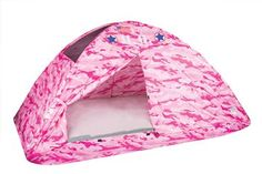 Show details for Pink Camo Bed Tent - Twin Size