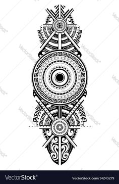 Maori tattoo design. Ethnic ornament can be used as body tattoo or ethnic themed backdrop. Download a Free Preview or High Quality Adobe Illustrator Ai, EPS, PDF and High Resolution JPEG versions.