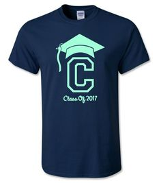 2017 Pre-School / Kindergarten Graduation Personalized Shirts ~ Graduation T-shirt ~ Personalized Graduation Shirt ~ Class Of 2017 Grad Cap by CutFromTheHeart on Etsy