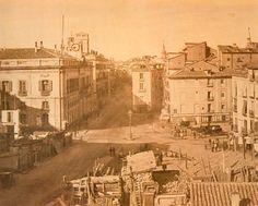 Madrid, Puerta del Sol en obras.