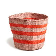 Orange Striped Basket - Kenya | Far & Wide Collective