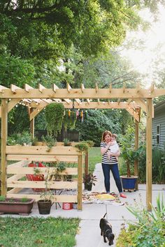 how to build a pitched roof pergola