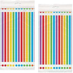 Amazon.com: Rainbow Birthday Plastic Tablecovers - 2 Pieces: Toys & Games