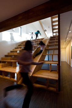 #indoor #slide #wood