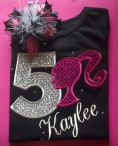 Barbie Birthday Shirt by dazzlemegirl on Etsy https://www.etsy.com/listing/181374382/barbie-birthday-shirt