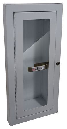 Fire Extinguisher Cabinet, 10 Lb, White