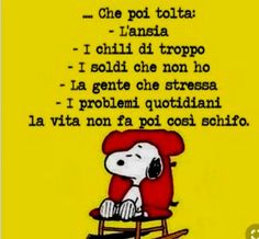 VIGNETTE DIVERTENTI SU SNOOPY   Settemuse.it Sarcastic Quotes, Funny Quotes, Funny Bunnies, Girl Humor, Good Mood, Vignettes, Good Morning, Positivity, Thoughts