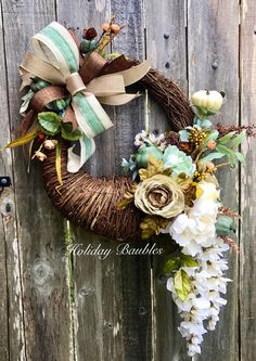 A personal favorite from my Etsy shop https://www.etsy.com/listing/556365171/fall-wreath-fall-grapevine-pumpkin
