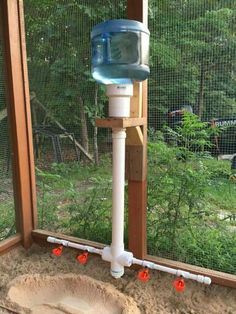 PVC chicken waterer