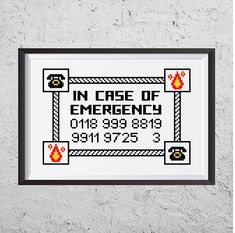 In Case Of Emergency Funny Cross Stitch PDF Instant