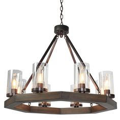 chandelier medieval octagon modern round light rustic chandeliers candle lighting pendant industrial bronze fan cage iron shadesoflight lights ceiling wrought