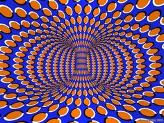 This image similar to the other optical illusion, depicts a sense of a reoccurring 3-Dimension for the human eye.