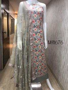 pure cotton satin checks digital print pure chiffon embroidered pure cotton bottom RATE 1770/-++$$ COURIER EXTRA BOOKING WITH ADDRESS & PAYMENT NO CASH ON DELIVERY ONLINE PAYMENT  GOOGLE PAY/phonepe..ask number BHIM UPI ID(UPI PAY...option) WHATSAPP 08867974236...FOR QUERIES AND ORDER  Patiala Suit Designs, Punjabi Suits, Exclusive Collection, Designer Dresses, Chiffon, Saree, Indian, Embroidery, Simple