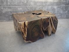 Sono wood root coffee table live edge. $1,950.00, via Etsy.