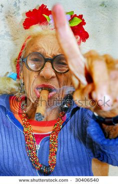 old cuban lady
