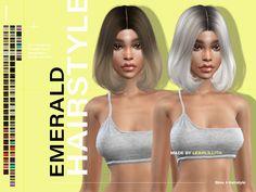 Roli Cannoli CC Findz Corner — leahlillith: Emerald Hairstyle: DOWNLOAD SIMS 4 Sims 4 Mac, Sims Cc, Pelo Sims, Download Hair, Girl Hairstyles, Female Hairstyles, Pink Wig, Sims Hair, Sims Community