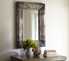 Trestle Mirror #potterybarn #yourpicks http://www.yourpicksyourplace.com/