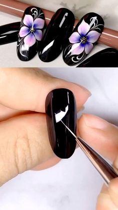 Nail Art Designs Videos, Nail Art Videos, Pretty Nail Art, Cool Nail Art, How To Nail Art, Beautiful Nail Designs, Beautiful Nail Art, Gel Nails, Acrylic Nails