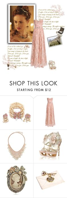 """Reign - Princess Claude"" by greerflower ❤ liked on Polyvore featuring Schiaparelli, Notte by Marchesa, BERRICLE and Jessica de Lotz Jewellery"