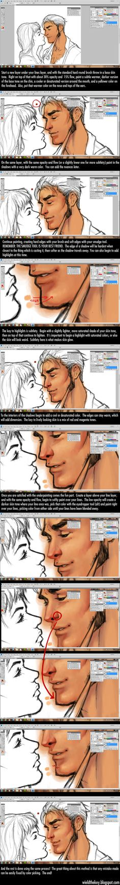 Painting Tutorial by *WieldstheKey on deviantART