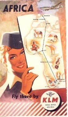 Frans Mertens created this Poster back in 1954. In those days #KLM flew to 9 destinations in #Africa