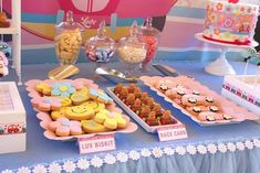 Sweets from a 60's VW Love Bug Themed Birthday Party via Kara's Party Ideas KarasPartyIdeas.com (5)