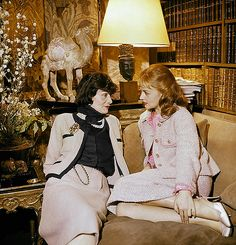 Coco Chanel and Jeanne Moreau