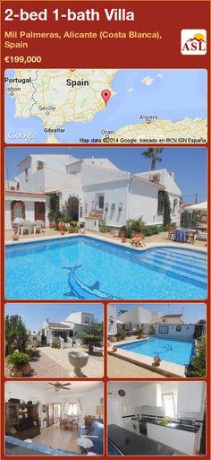 2-bed 1-bath Villa in Mil Palmeras, Alicante (Costa Blanca), Spain ►€199,000 #PropertyForSaleInSpain