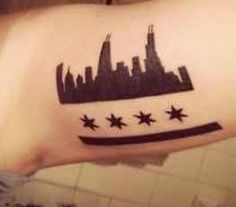 Chicago flag tattoo. Perfect