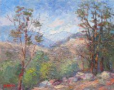 Lake Eildon National Park, Victoria, Australia Original Impressionist Oil Painting by Enoch Hlisic