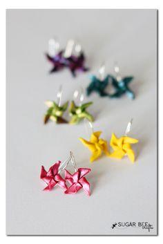 DIY Clay Pinwheel Earrings