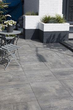 Terrastegels grijs zwart