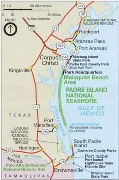 Map Of Padre Island Texas Never To Early Start Planning The Next